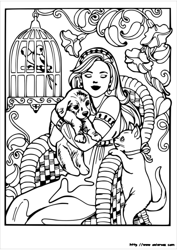 coloriage princesse égyptienne