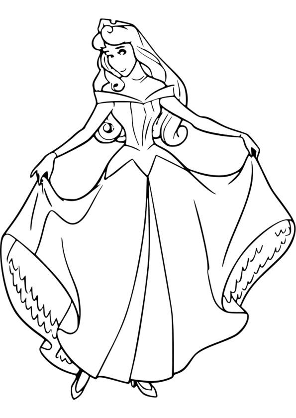 imprimer coloriage princesse sarah