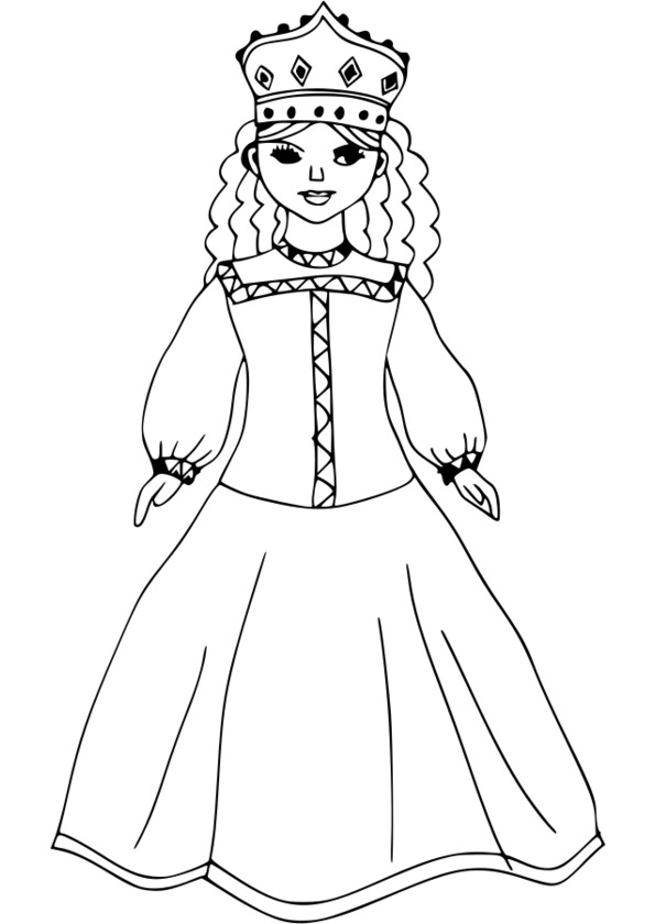 coloriage princesse à imprimer reine des neiges