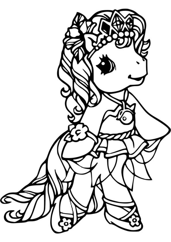 coloriage princesse moyen age