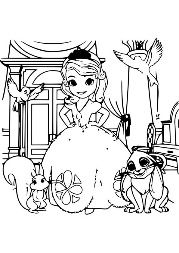 coloriage 5 ans princesse