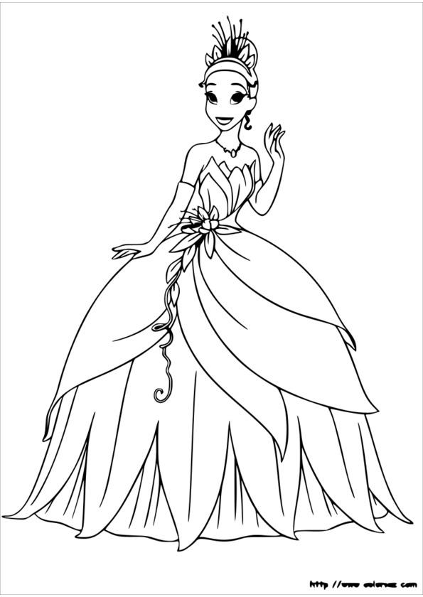 coloriage princesse papillon