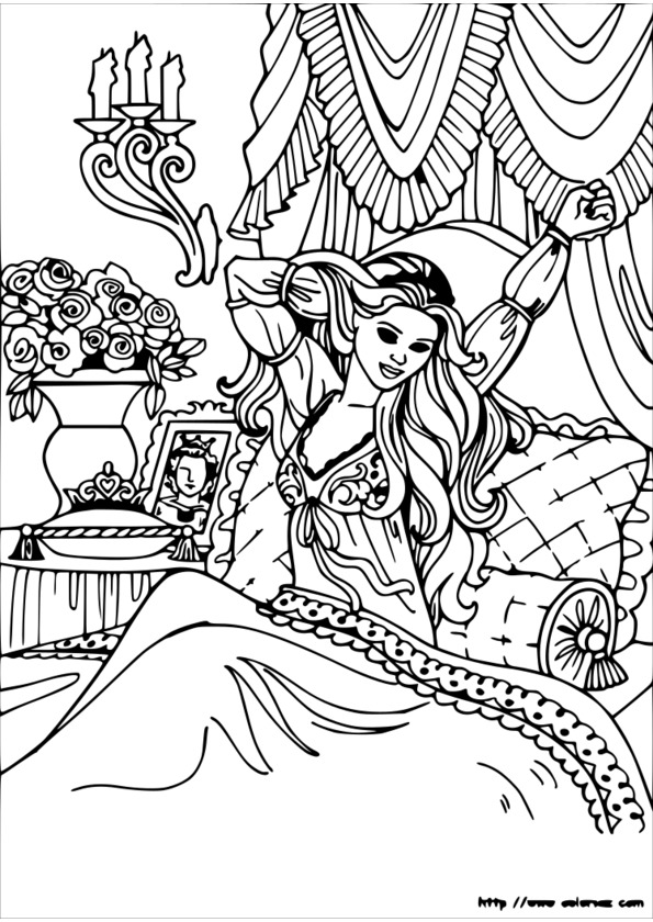 Coloriage Princesse Cheval Imprimer.Coloriage Princesse Cheval