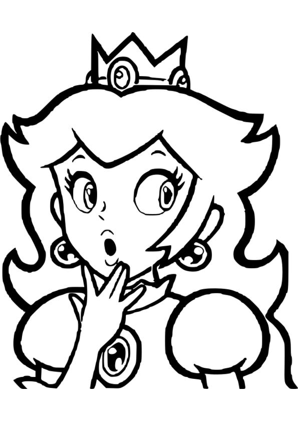 un coloriage de princesse
