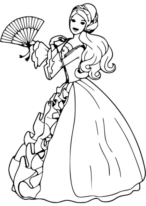 coloriage princesse magique