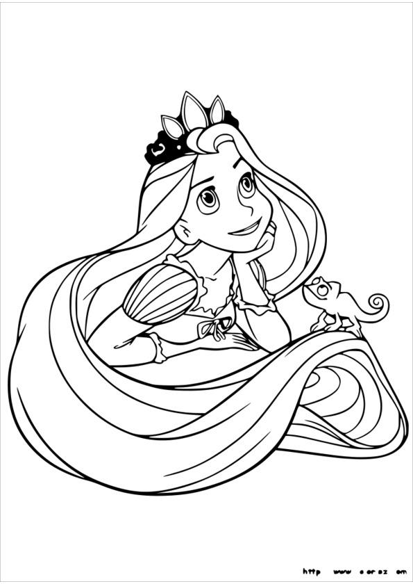 coloriage princesse free