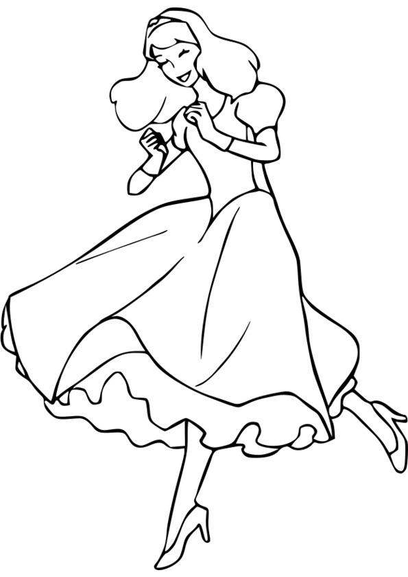 coloriage princesse volante