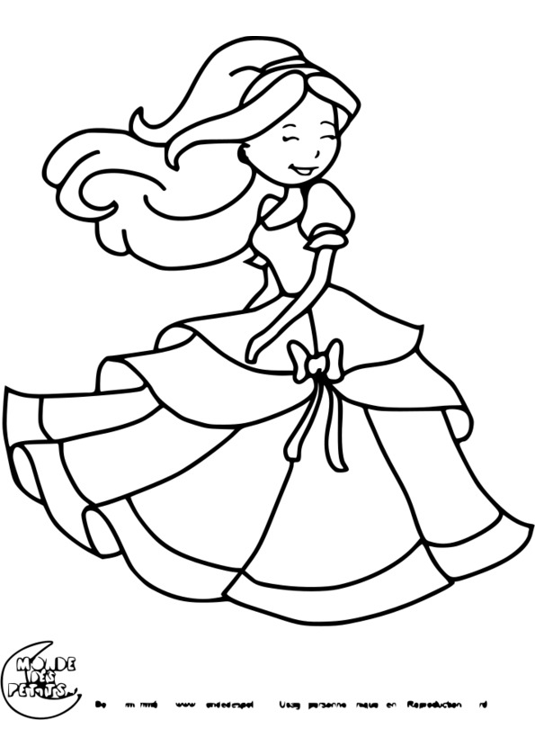 coloriage princesse barbie à imprimer