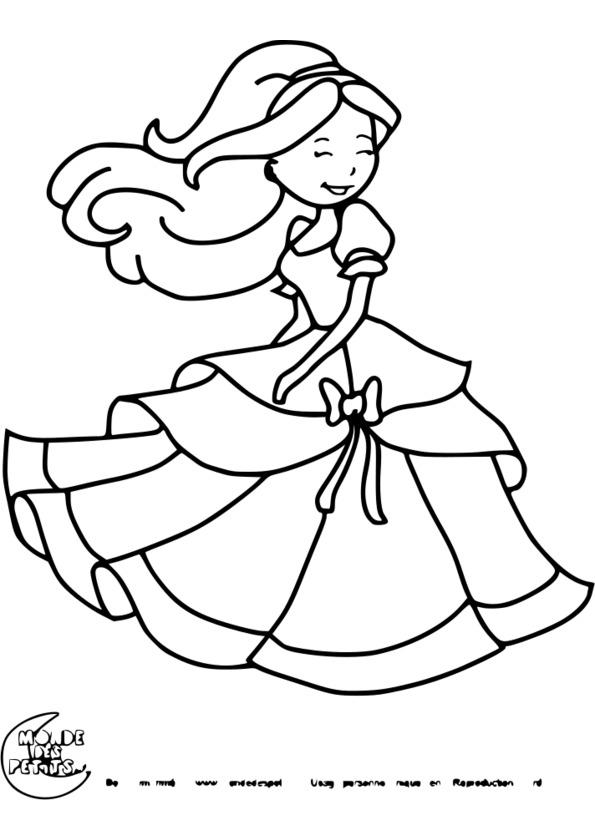 Coloriage princesse jasmine - Princesse a colorier ...