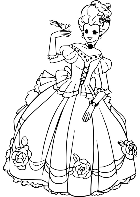 coloriage princesse peach a colorier