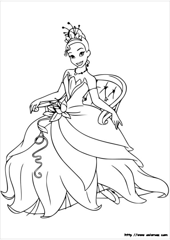 coloriage princesse jeux fille