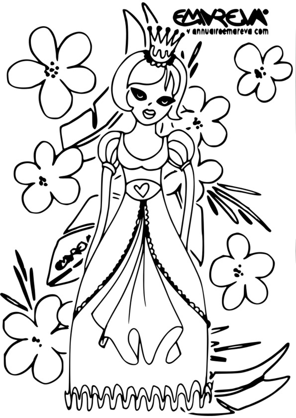 coloriage princesse cheval imprimer