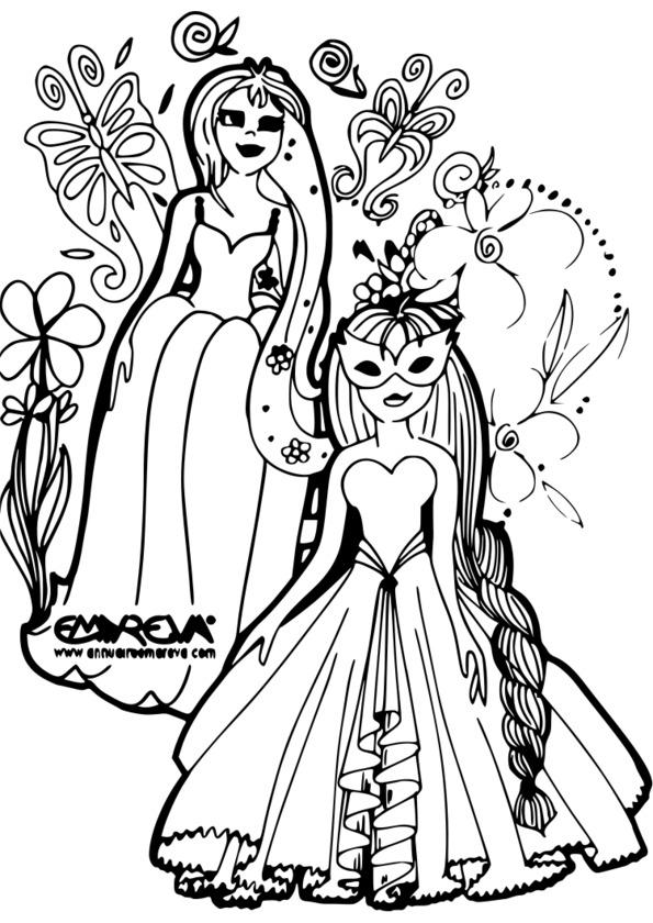 Coloriage princesse cheval imprimer - Coloriage des princesses ...