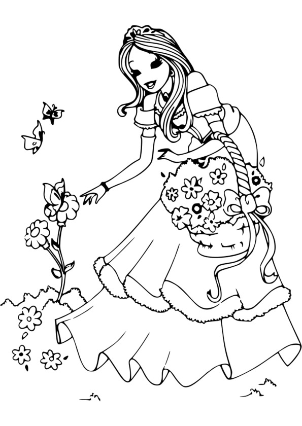 coloriage princesse pop star