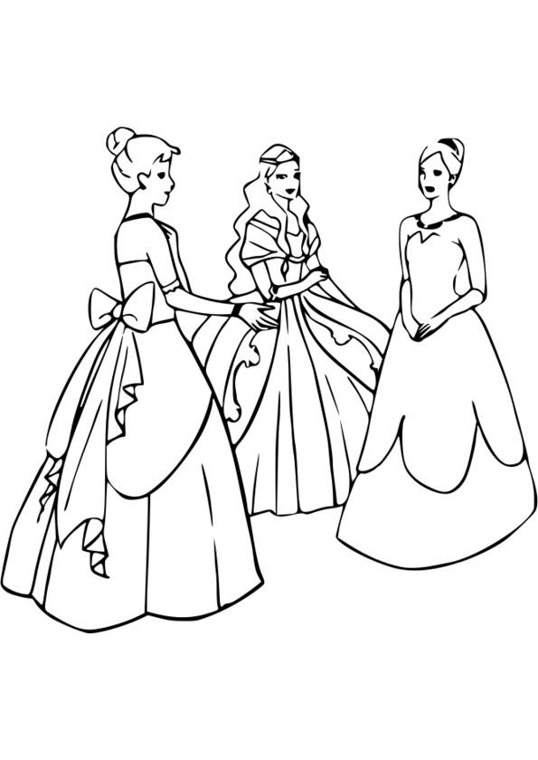 Colorier les princesses disney en ligne - Coloriage princesses ...