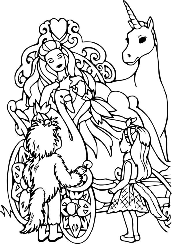 coloriage princesse walt disney � imprimer