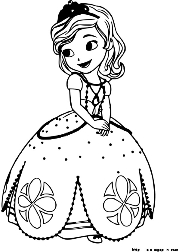 Coloriage Princesse Sur Une Licorne