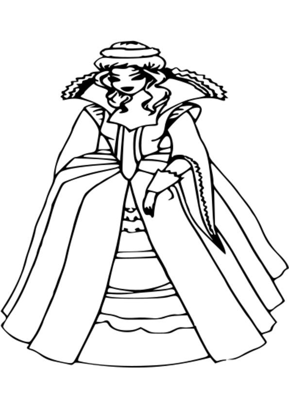 dessin à colorier princesse mononoké