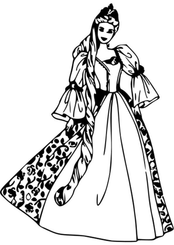 136 dessins de coloriage princesse imprimer - Coloriage princesse facile ...