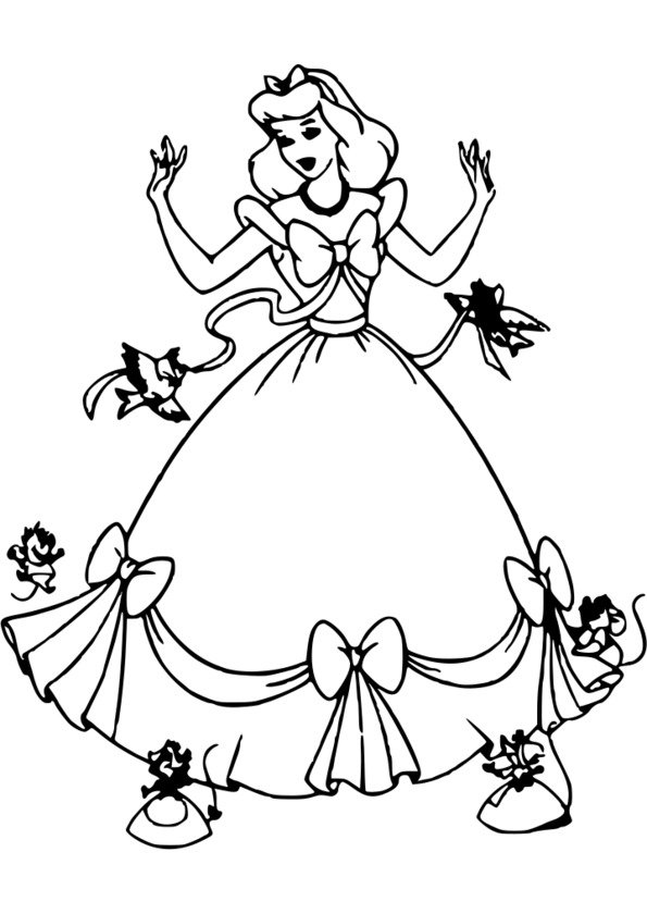 coloriage princesse cendrillon