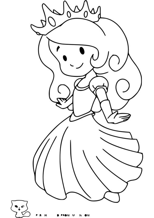 coloriage princesse à habiller