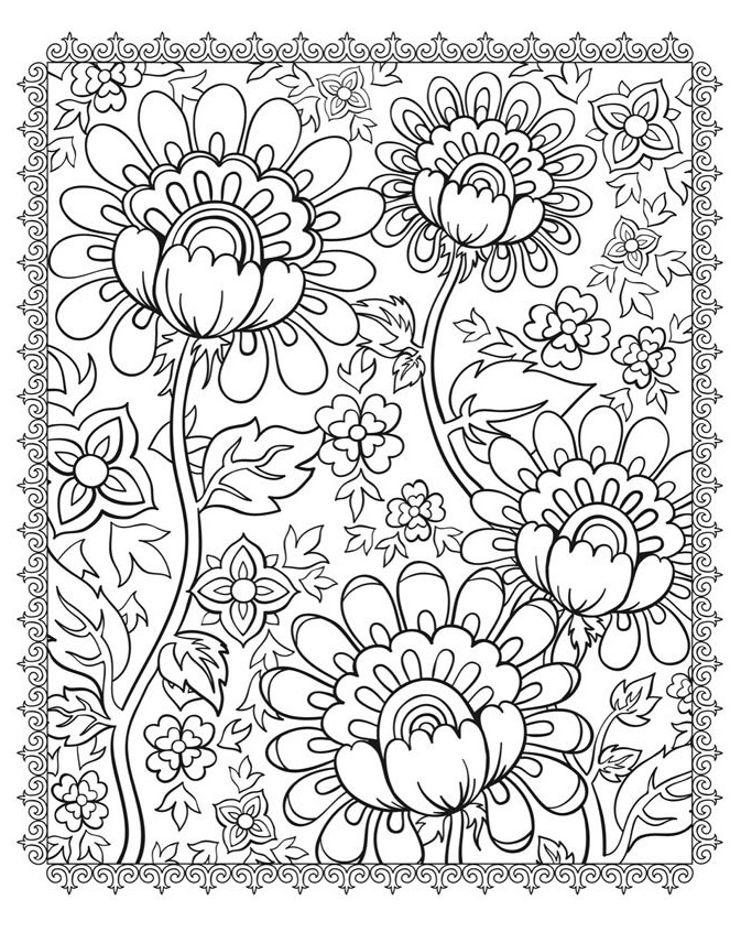 Coloriage Printemps A Imprimer Pdf.Coloriage Adulte Printemps