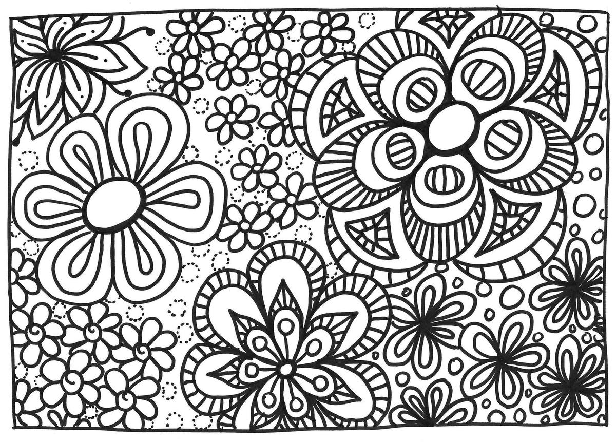 98 dessins de coloriage printemps fleurs imprimer - Coloriage fleur 3 ans ...