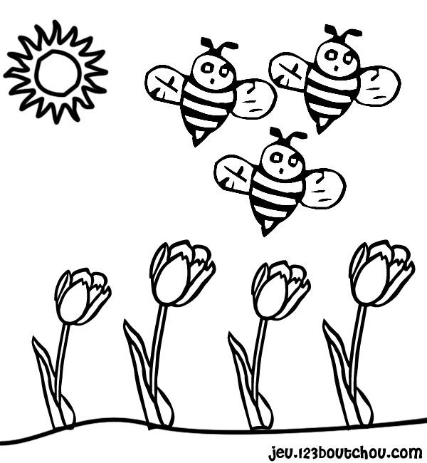 98 dessins de coloriage printemps fleurs imprimer - Fleur a colorier et a decouper ...