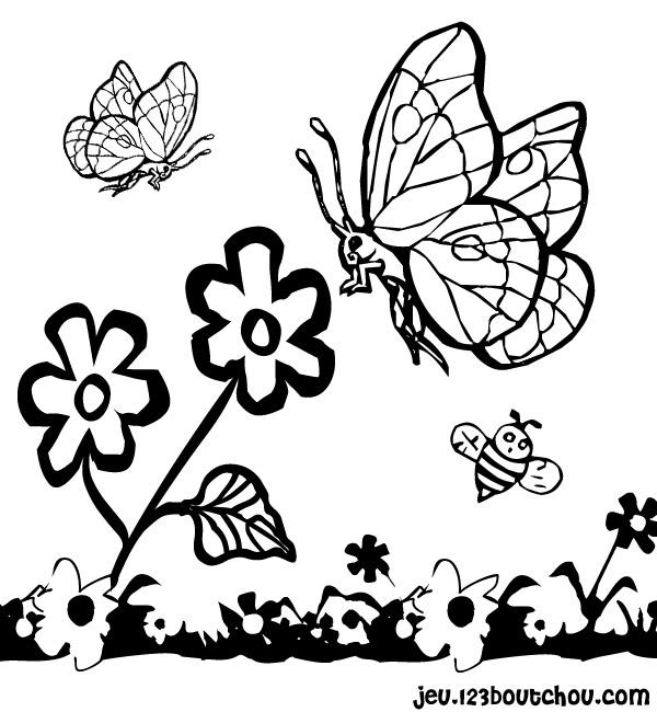 Coloriage Bebe Fleurs.Coloriage Les Fleurs Du Printemps Image De Printemps A Imprimer