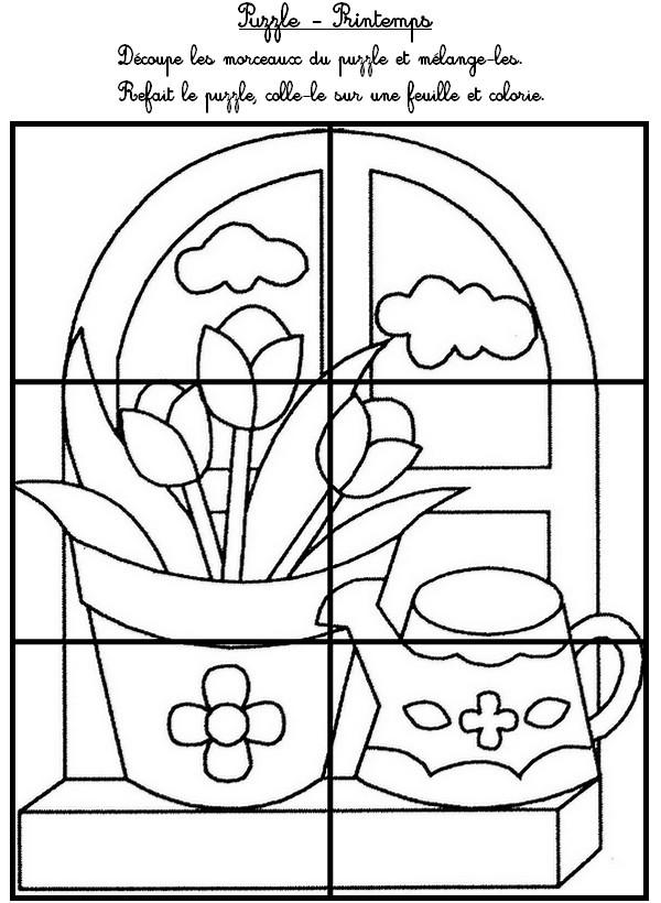 99 dessins de coloriage printemps ms imprimer - Le printemps gs ...