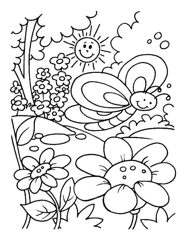 Dessin colorier printemps bourgeon - Dessin bourgeon ...