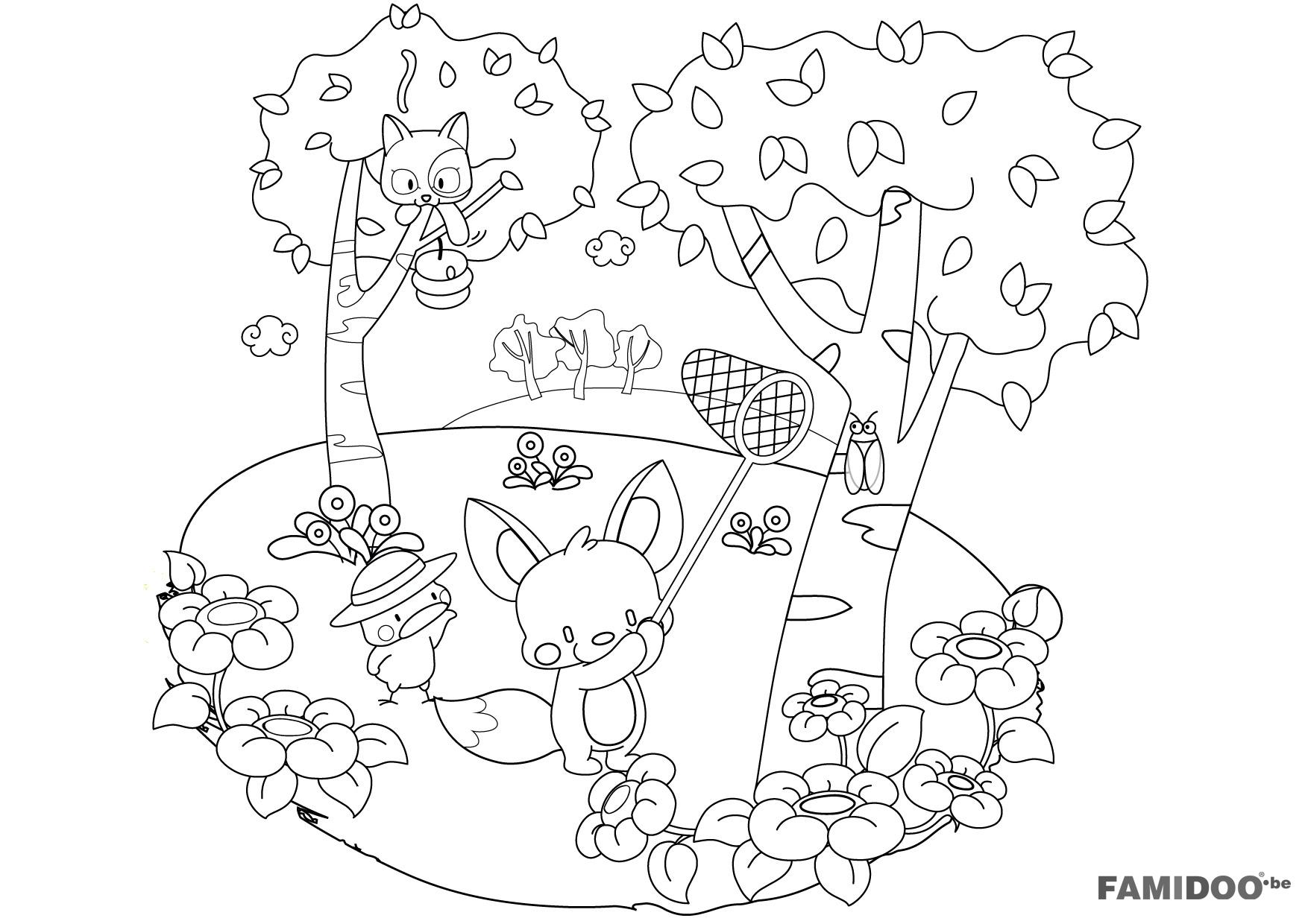 dessin printemps a imprimer