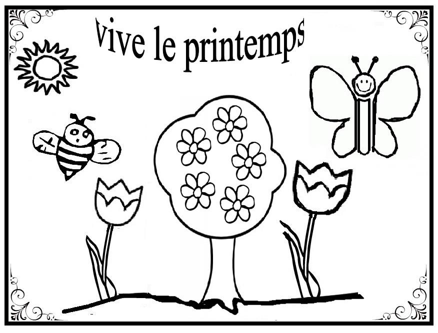 Dessin printemps en maternelle - Coloriage fleurs maternelle ...