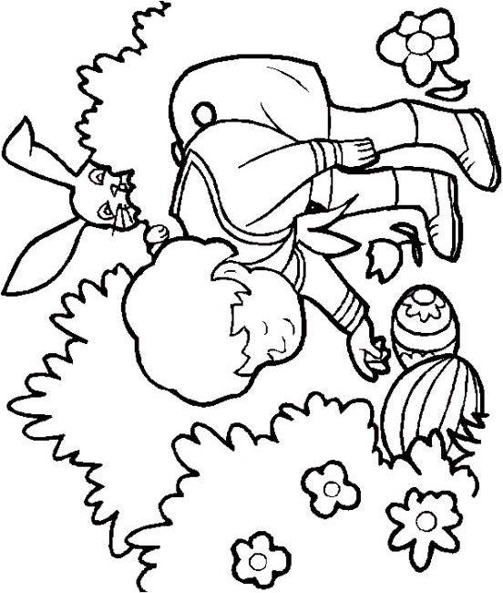 dessin à colorier printemps jardin