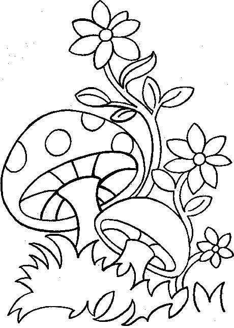 Coloriage Paysage Printemps Imprimer
