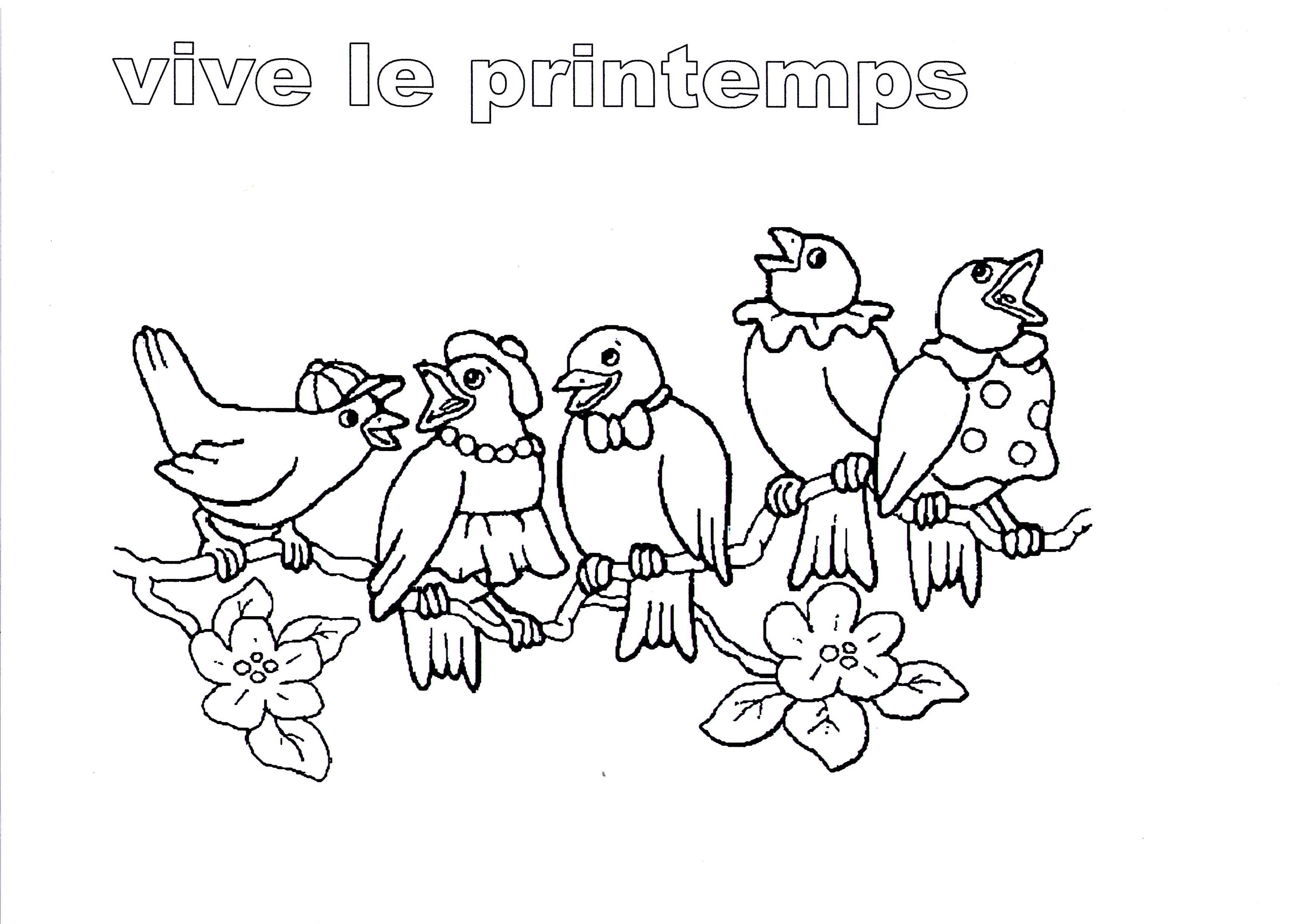 Coloriage Printemps Gratuit.120 Dessins De Coloriage Printemps A Imprimer