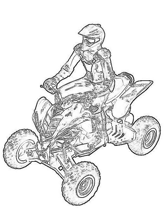 Coloriage moto quad a imprimer - Dessin a colorier spiderman moto ...