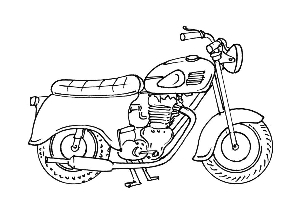 coloriage à dessiner quad moto