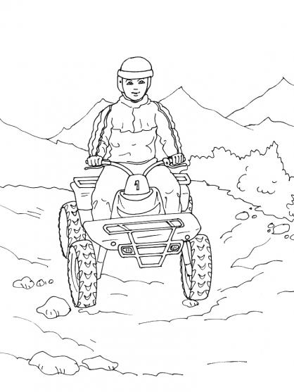 dessin à colorier quad imprimer