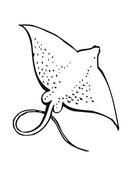 dessin � colorier de raie manta