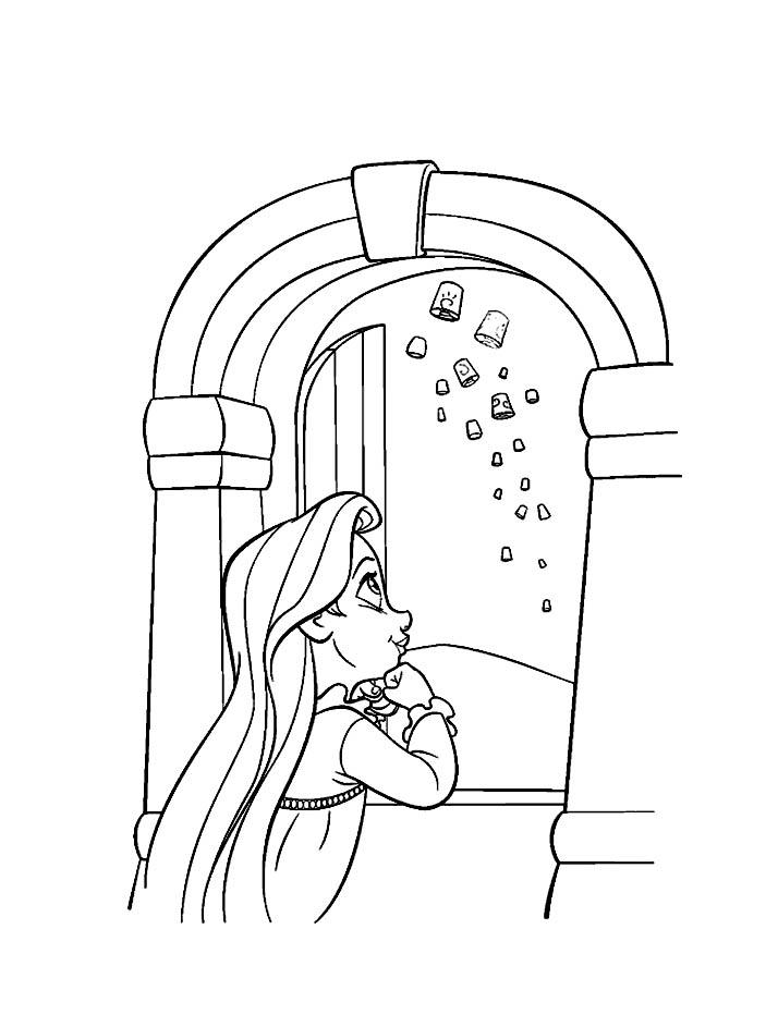 19 dessins de coloriage raiponce b b imprimer - Bebe raiponce ...