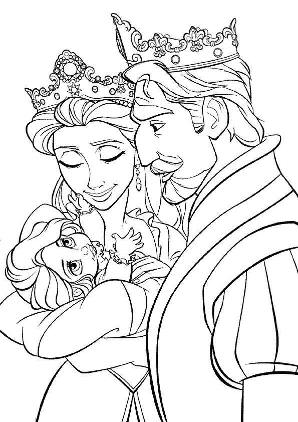 19 dessins de coloriage raiponce et son prince imprimer - Raiponce et son prince ...