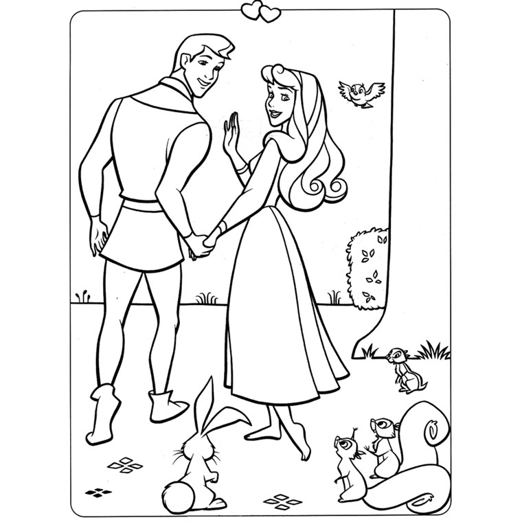 19 dessins de coloriage raiponce et son prince imprimer - Prince et princesse dessin ...