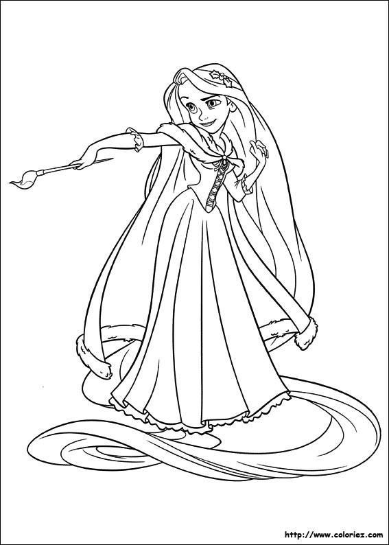 dessin à colorier raiponce 2