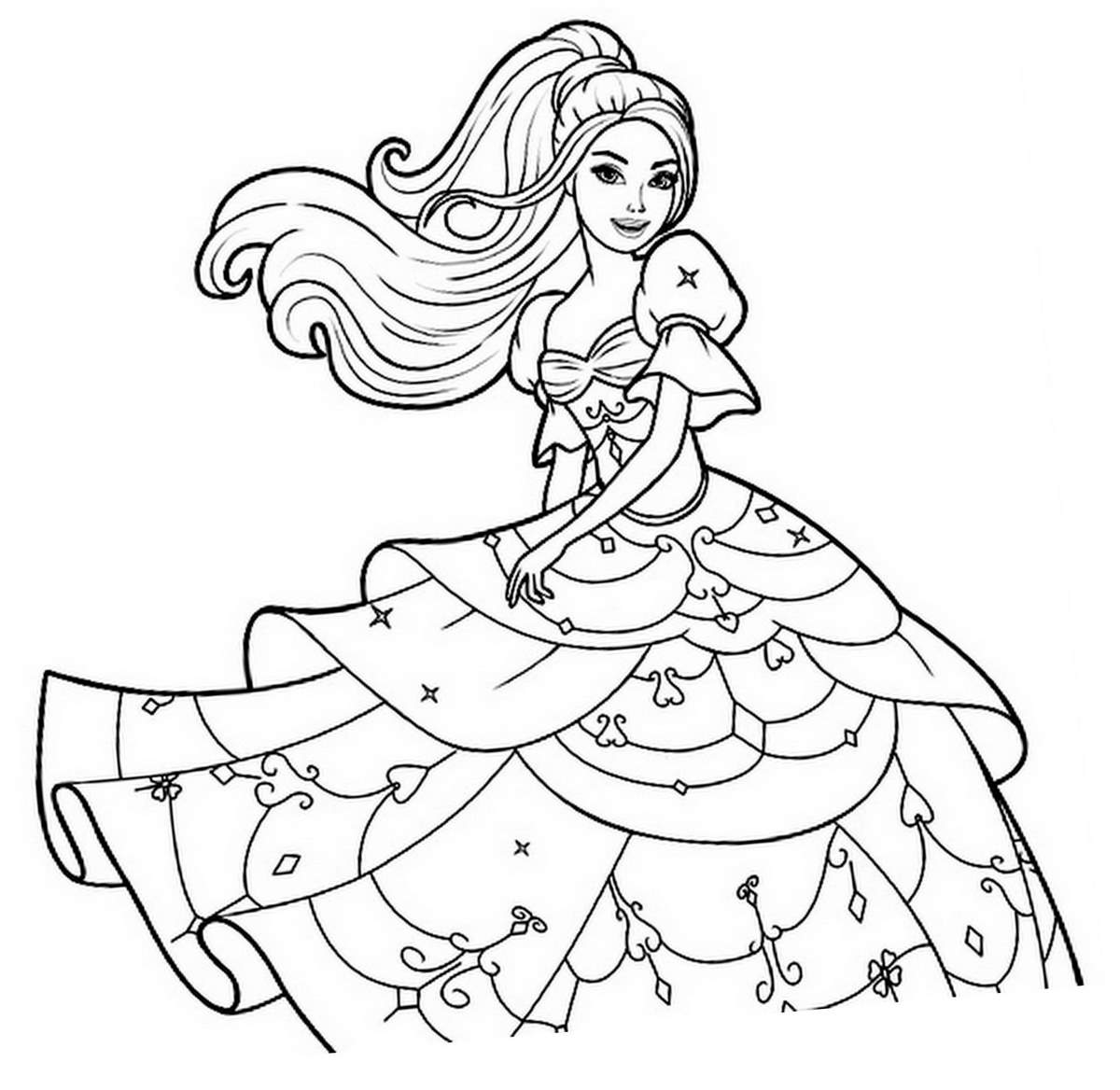 Coloriage dessiner barbie raiponce gratuit - Dessin anime barbie princesse ...