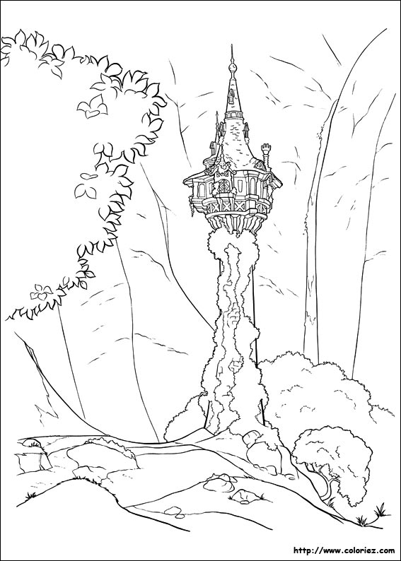 jeux dessin à colorier raiponce gratuit
