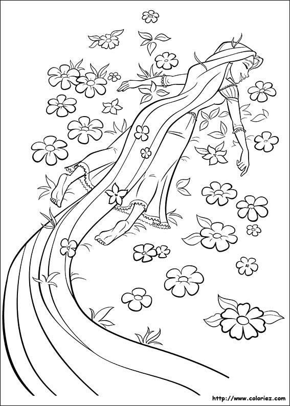 dessin princesse raiponce en ligne