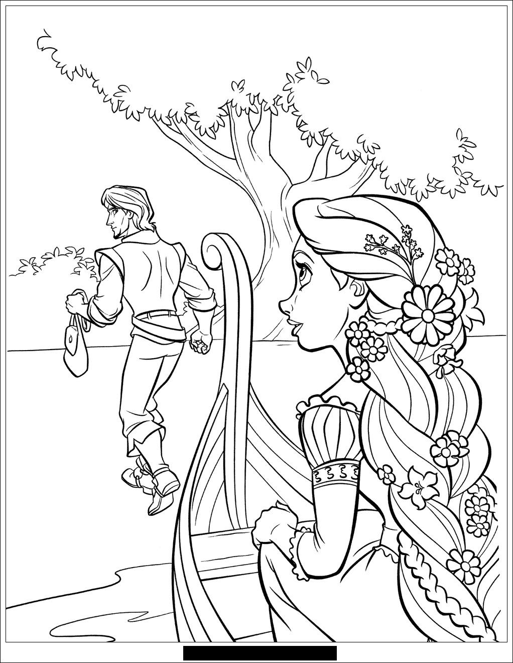dessin à colorier raiponce pdf