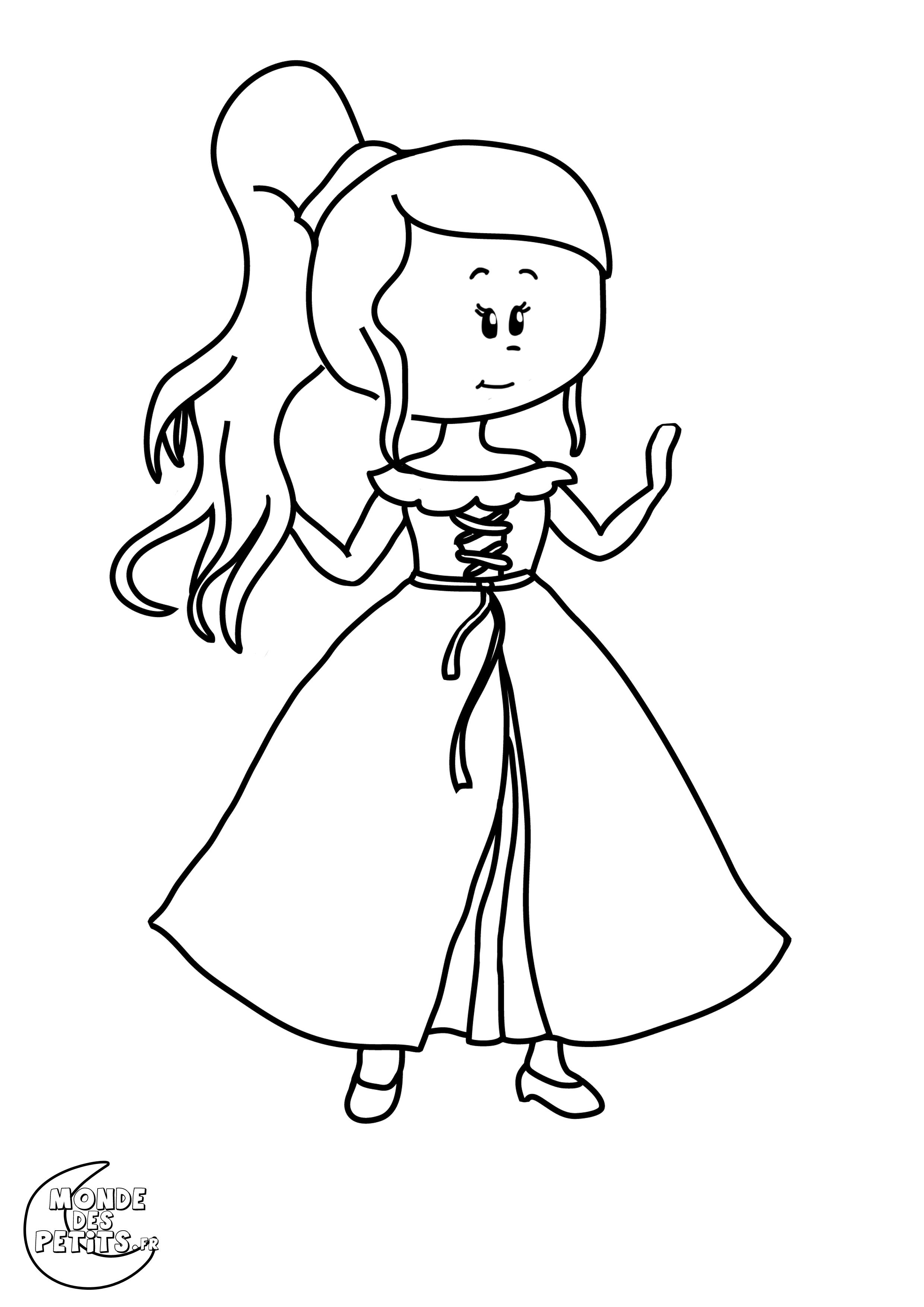 mon dessin à colorier raiponce