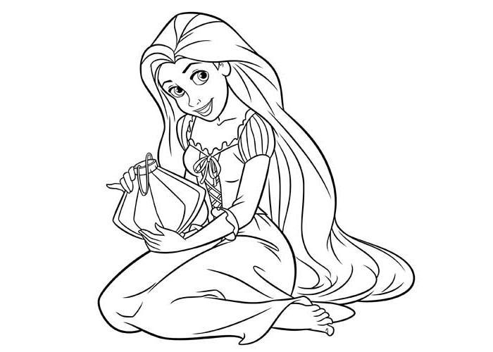 Coloriage de raiponce et flynn - Raiponce dessin anime ...